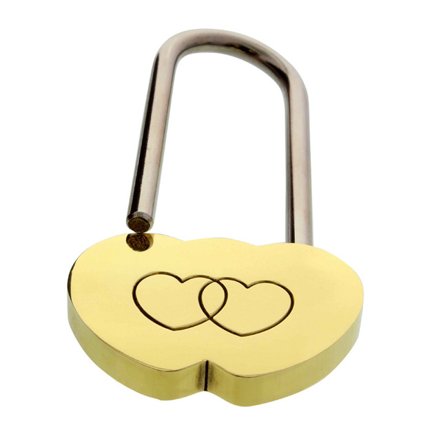 Personalisierbares Liebesschloss Herzmotiv