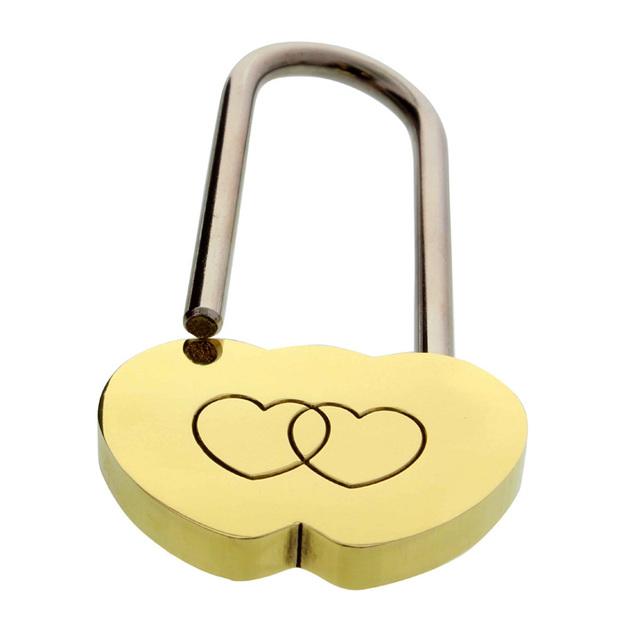 Cadenas d'amour personnalisable deux Coeurs