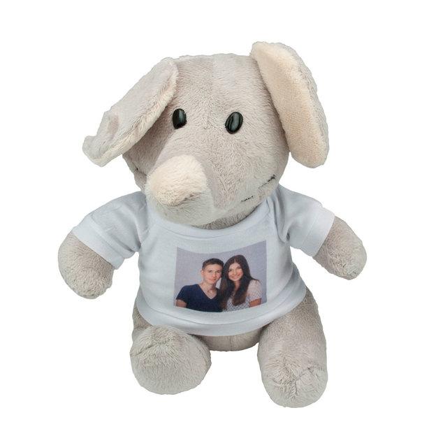 Elefant mit Foto