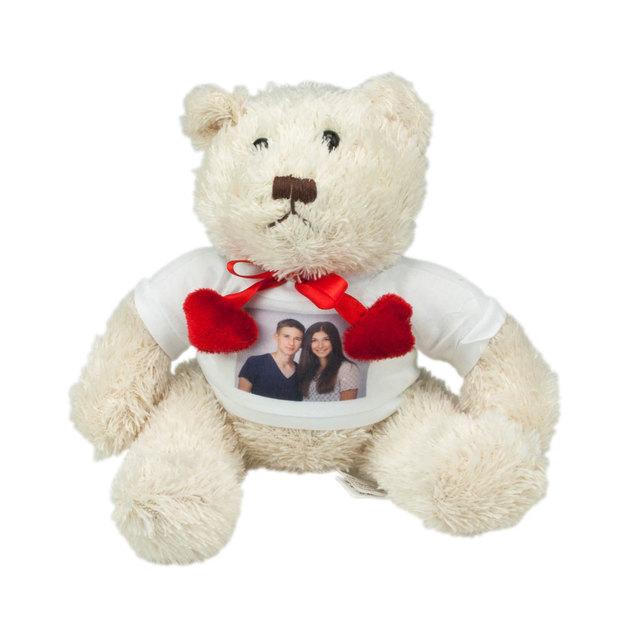 Weisser Teddy mit Foto