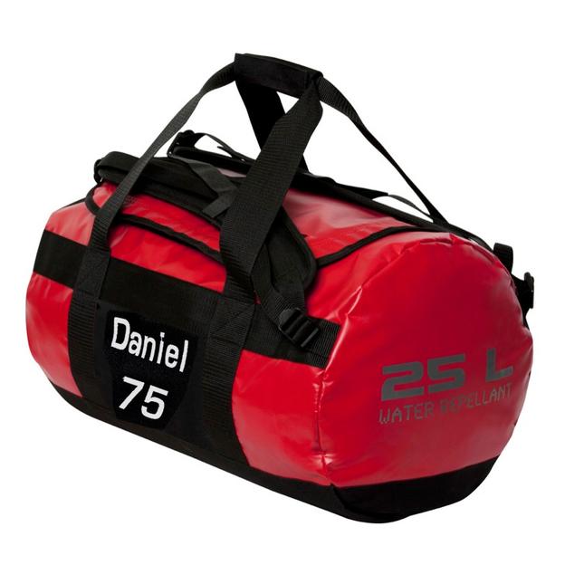Sac de sport personnalisable 25 litres rouge