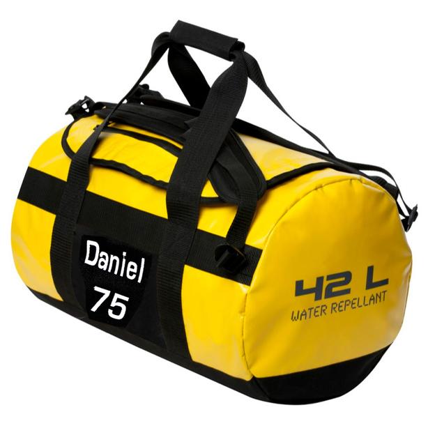 Personalisierbare Sporttasche 42 Liter gelb