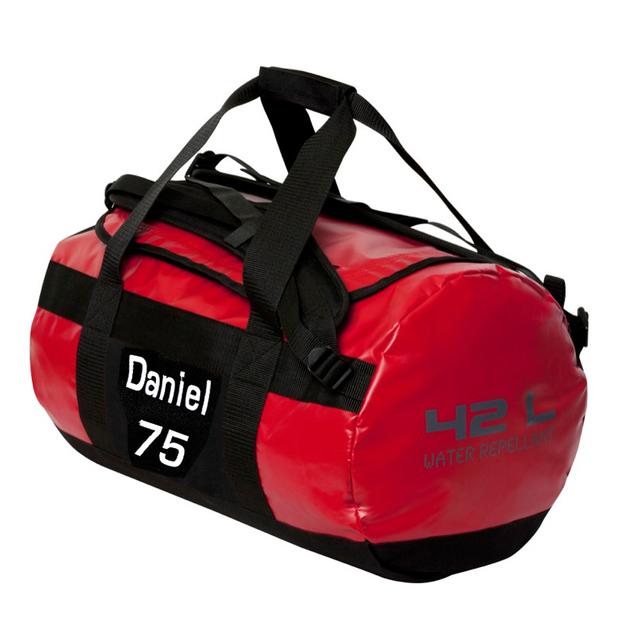 Sac de sport personnalisable 42 litres rouge