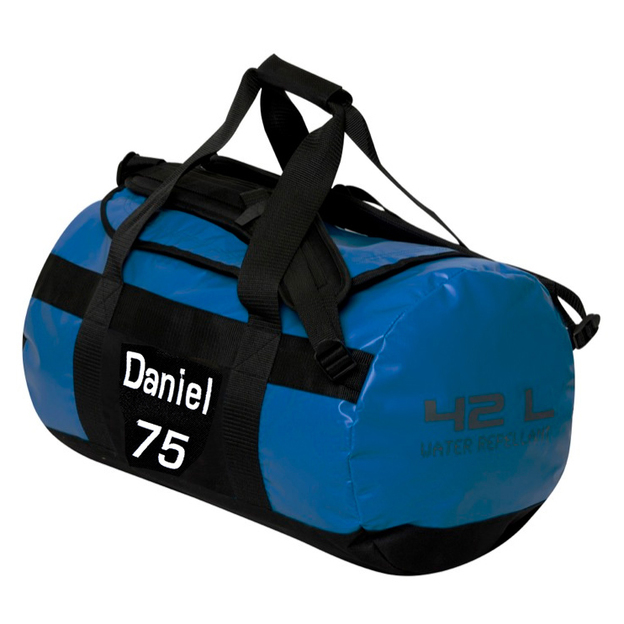 Personalisierbare Sporttasche 42 Liter blau
