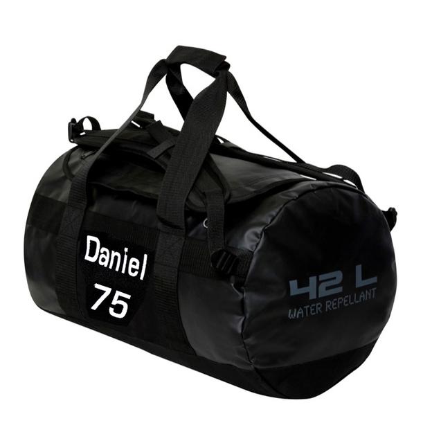 Sac de sport personnalisable 42 litres noir