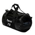 Personalisierbare Sporttasche 42 Liter schwarz