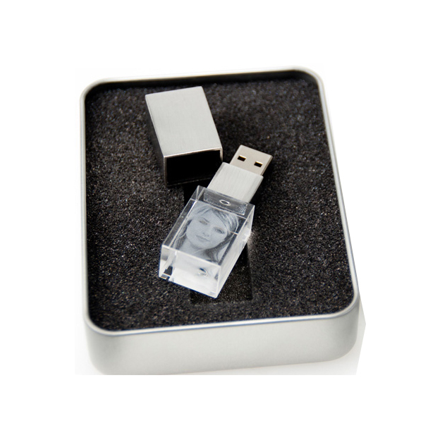 Glasfoto USB Stick 4GB