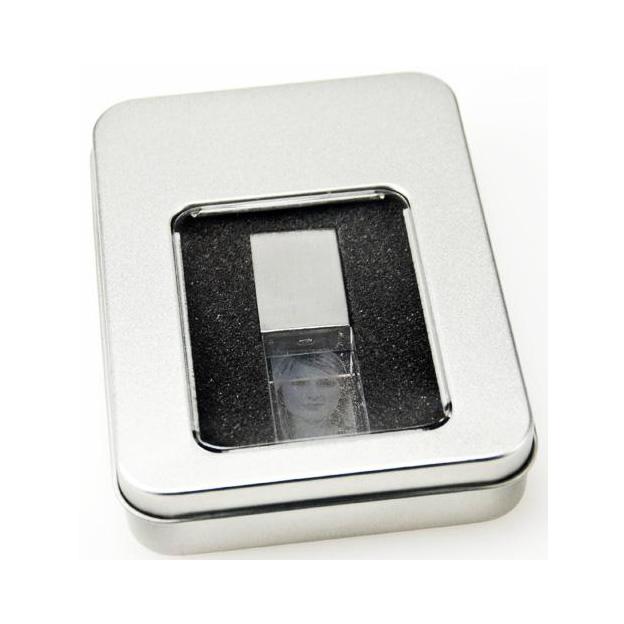 Clé USB Cristal à gravure photo 16 Go