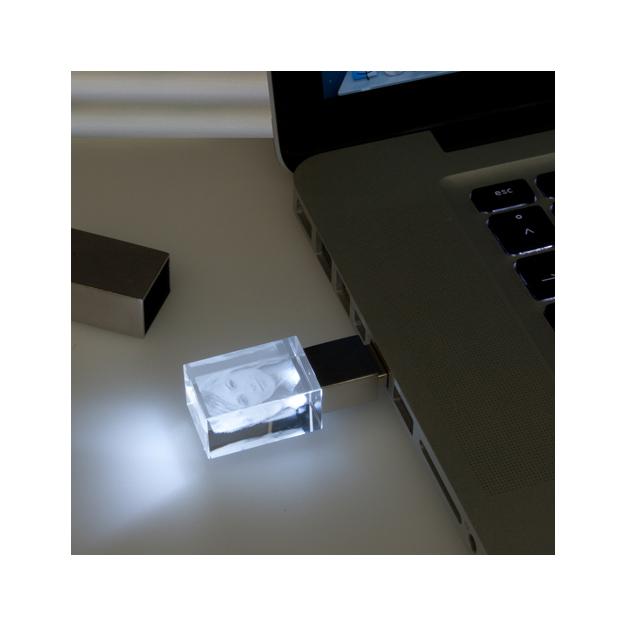Glasfoto USB Stick 16 GB