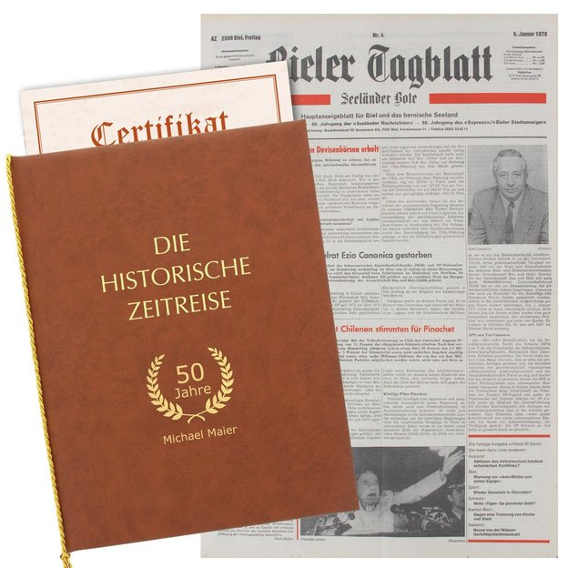 Personalisierbare originale Geburtstags-Zeitung