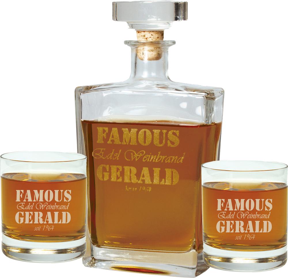 Personalisierbare Whisky Karaffe Geschenkset