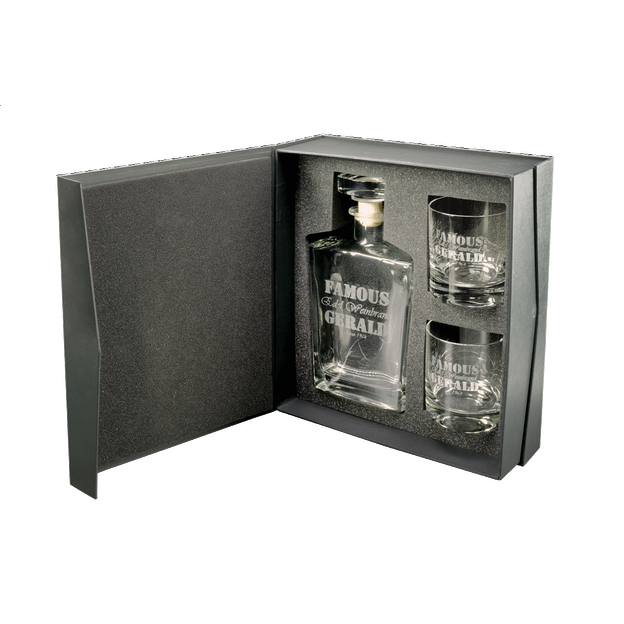 Carafe Whisky et verres personnalisable