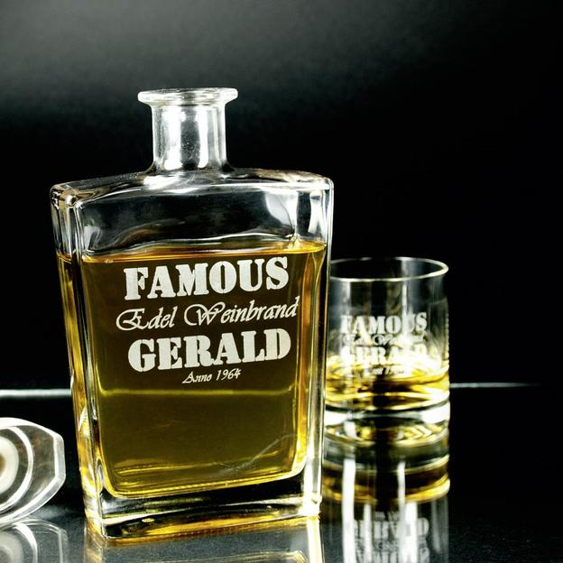 Personalisierbare Whisky-Karaffe Geschenkset