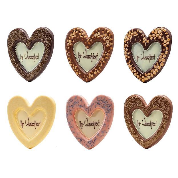 Coeur en chocolat personnalisable