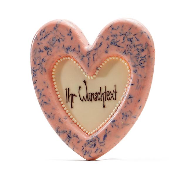 Coeur en chocolat myrtilles