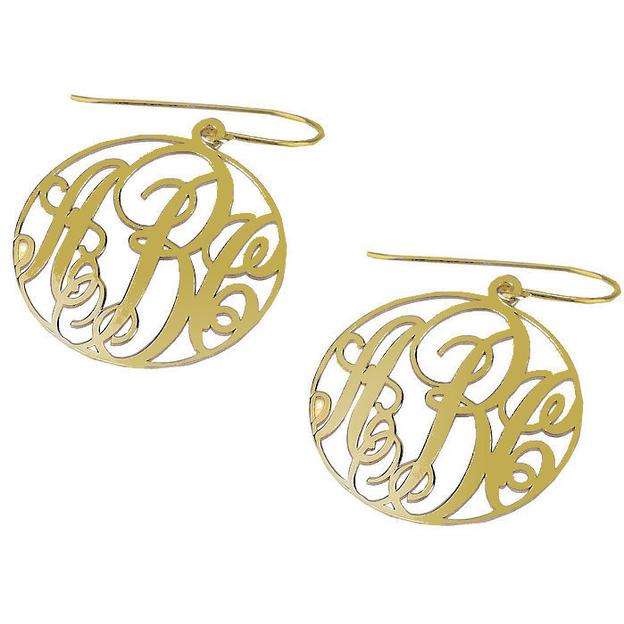 Boucles d'oreilles Monogramme argent ou doré