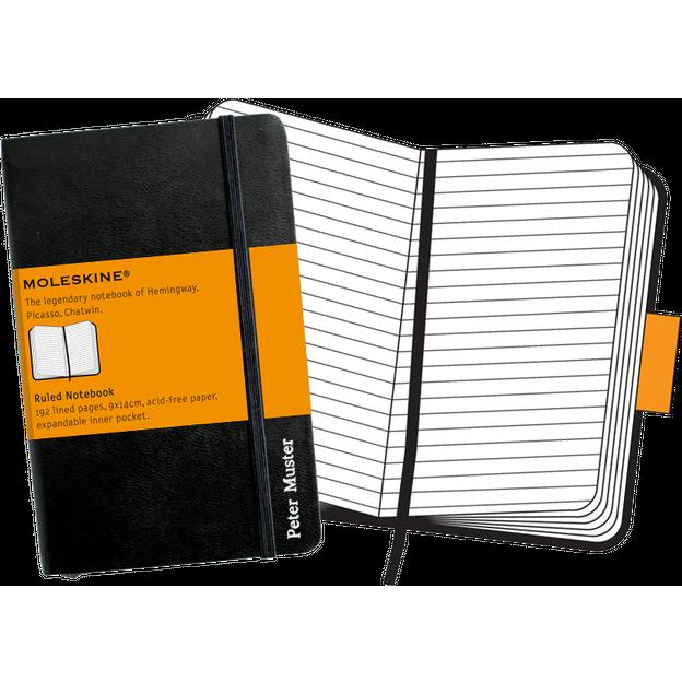 Moleskine personnalisable carnet A6 avec lignes