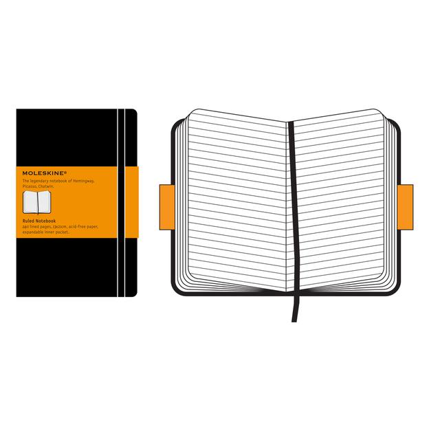 Moleskine personnalisable carnet A5 avec lignes