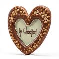 Coeur en chocolat noisettes 36%