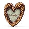 Coeur en chocolat noisettes 49%
