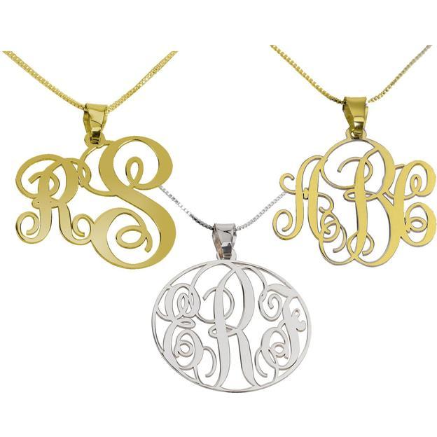 Personalisierbare Silber Monogramm Halskette