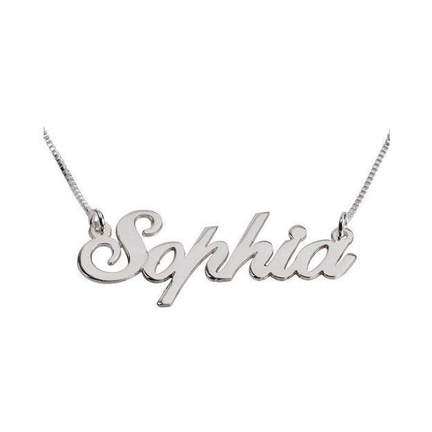 Silberne Namenskette, Kette 45cm