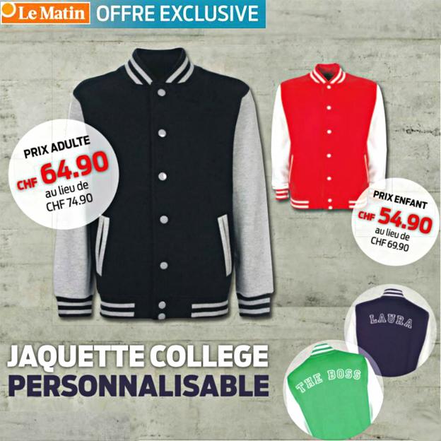 Veste College personnalisable