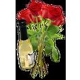 Rosen rot mit Blattgold Sekt piccolo Gr. 01er Bund