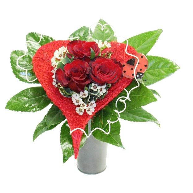 Bouquet coeur de rose