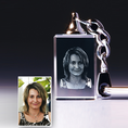 Personalisierbarer Schlüsselanhänger mit Foto im Glas
