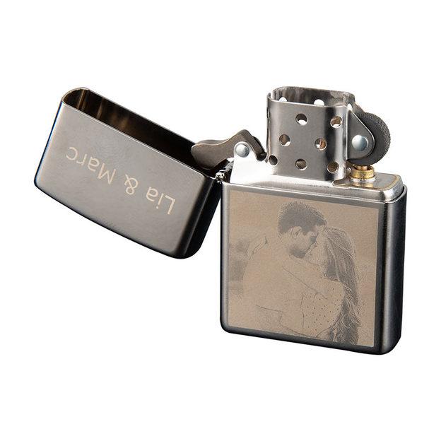 Zippo personnalisé par gravure photo