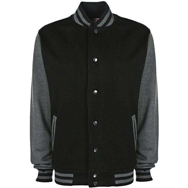 Veste College personnalisable noir/gris, Grösse S