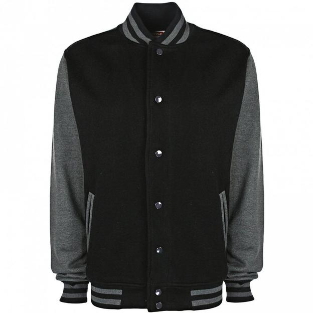 Veste College personnalisable noir/gris, Grösse XL