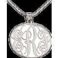 Collier Monogramme en argent 925 rosace