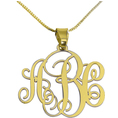 Personalisierbare vergoldete Silber Monogramm Kette