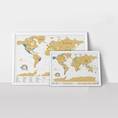 Carte du monde Scratch XL