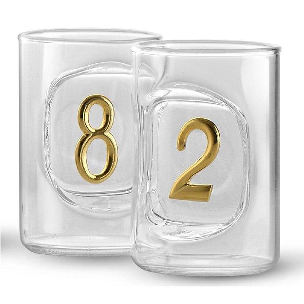Personalisierbare Flasche mit Jahreszahlen
