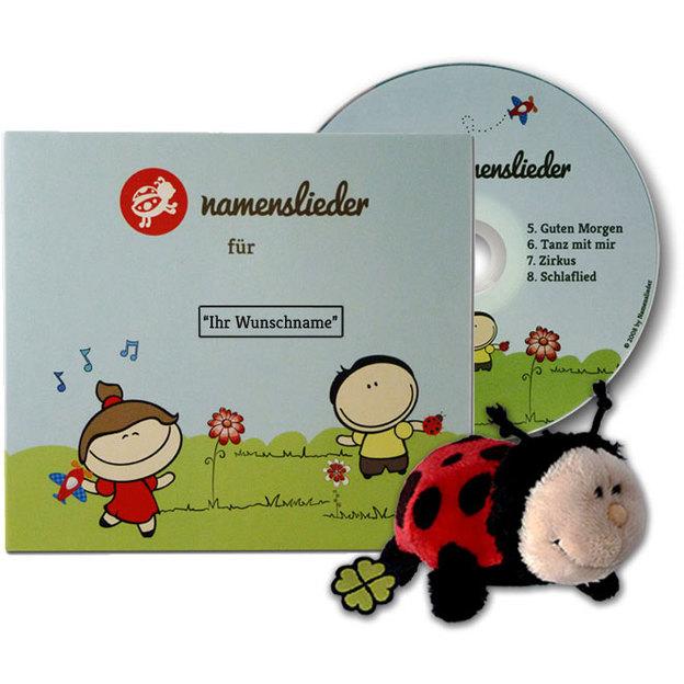 Personalisierbare Namenslieder CD1 + Kuscheltier Kasimir