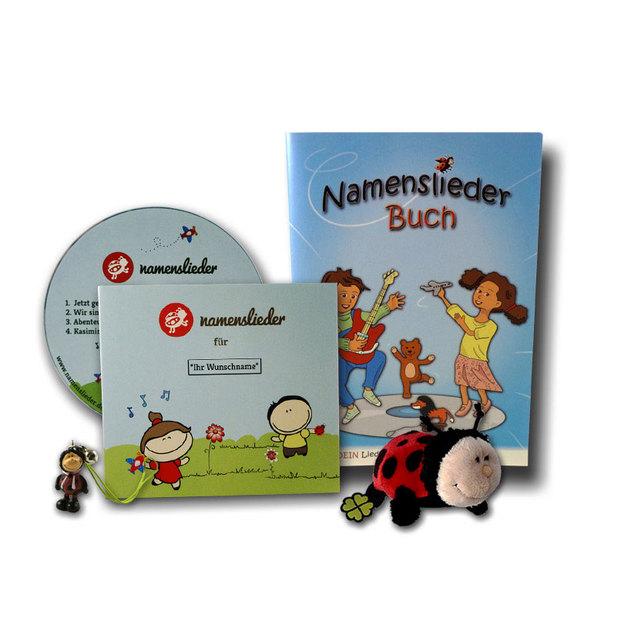 Personalisierbare Namenslieder CD1, Kuscheltier Kasimir + Begleitheft
