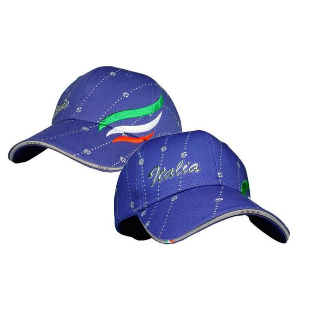 Classic Fan-Cap Italia blau