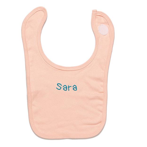 Bavoir personnalisé pour bébé rose