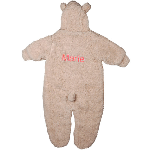 Personalisierbarer Overall aus Teddyfleece für Babys