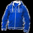 Jahrgangs-Jacke für Frauen blau, Grösse M