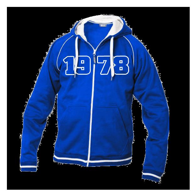 Jahrgangs-Jacke für Frauen blau, Grösse XL