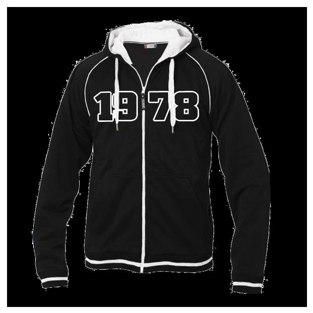 Jahrgangs-Jacke für Herren schwarz, Grösse M