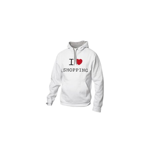 I Love Hoodie personnalisable Blanc, Taille XS