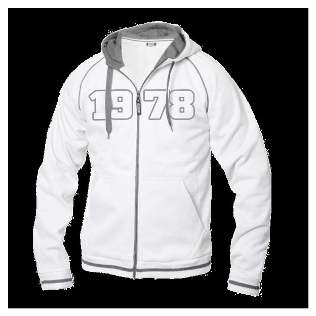 Jahrgangs-Jacke für Herren weiss, Grösse XL