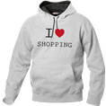 I Love Hoodie personnalisable Gris clair, Taille XXL