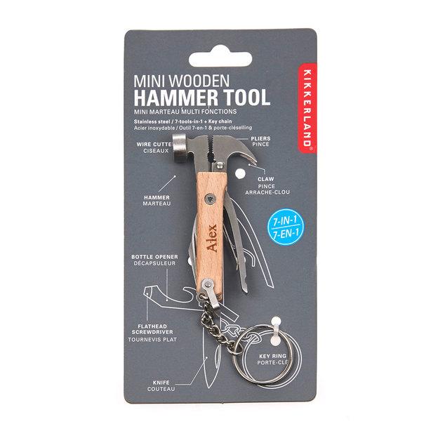 Personalisierbarer Mini Hammer aus Holz