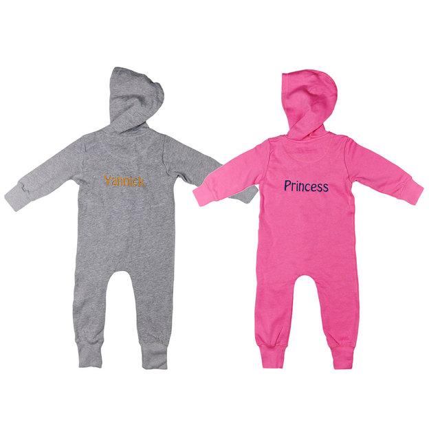 Grenouillère personnalisée avec capuche pour enfant